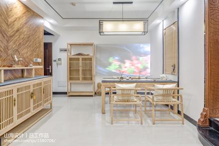 华丽110平中式三居餐厅设计案例