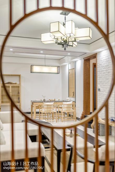 华丽123平中式三居客厅效果图欣赏
