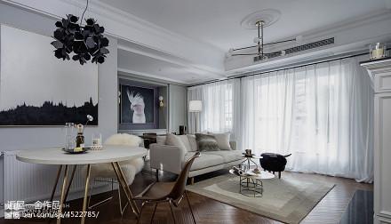 温馨52平美式二居客厅效果图