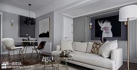 温馨64平美式二居客厅效果图欣赏二居美式经典家装装修案例效果图