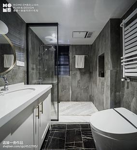 优美81平美式二居卫生间图片欣赏二居美式经典家装装修案例效果图