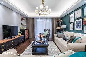精美99平美式四居客厅实拍图