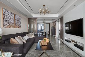 轻奢现代四居客厅设计图
