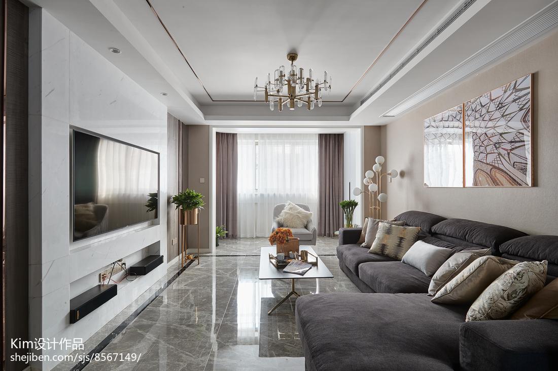 111平方四居客厅现代装修设计效果图客厅现代简约客厅设计图片赏析
