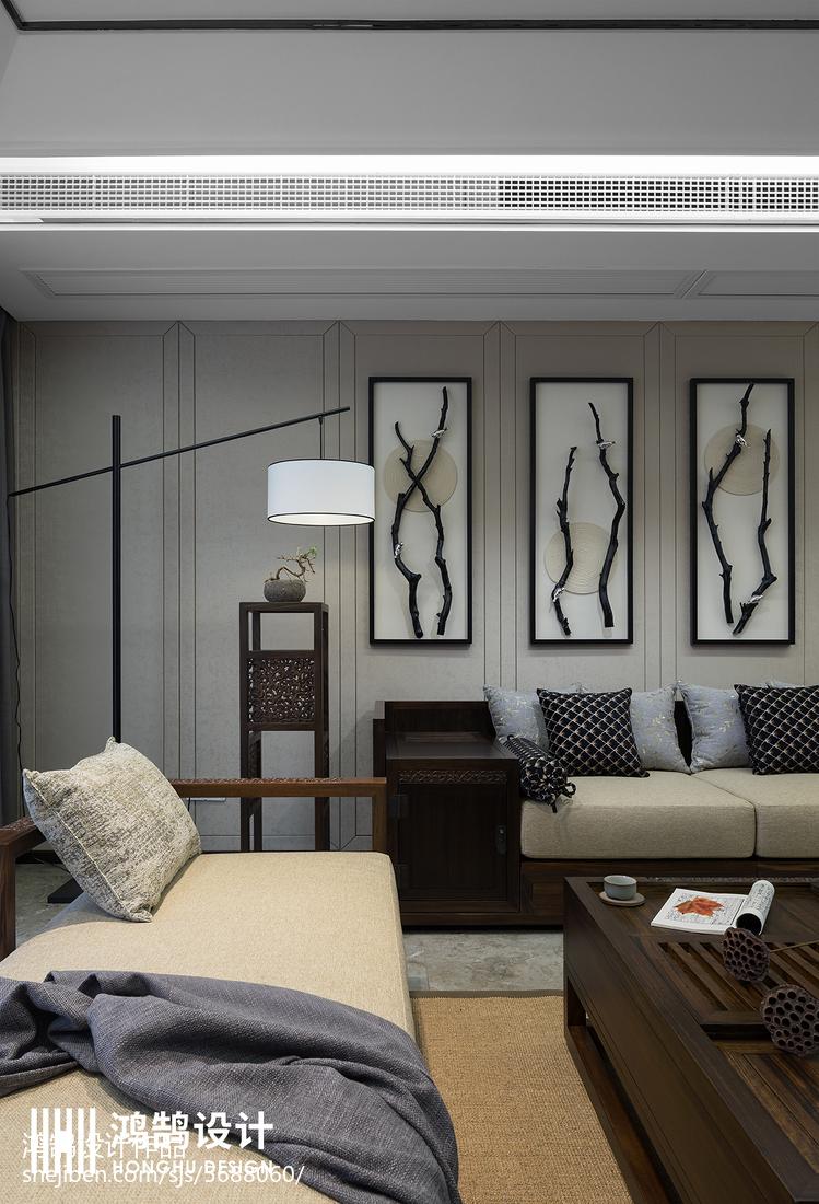 93平米三居客厅中式装饰图片客厅中式现代客厅设计图片赏析