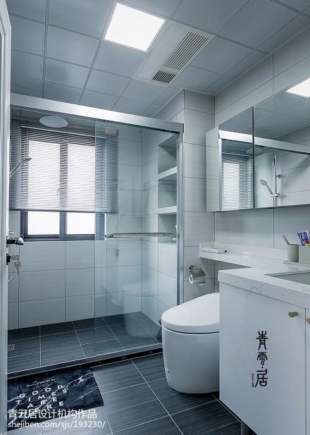 轻奢114平现代三居卫生间设计图卫生间