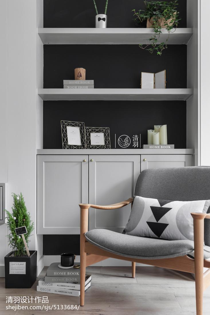热门101平米三居客厅北欧装修设计效果图客厅