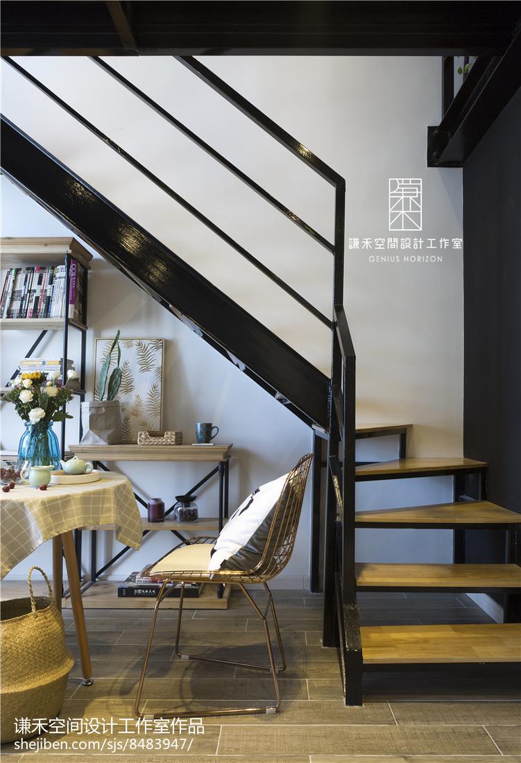 复式北欧风楼梯设计图片功能区2图北欧极简功能区设计图片赏析