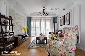 精美93平米三居客厅美式效果图片大全