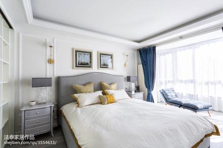107平米三居卧室美式欣赏图卧室
