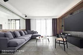 100平大小客厅三居现代欣赏图