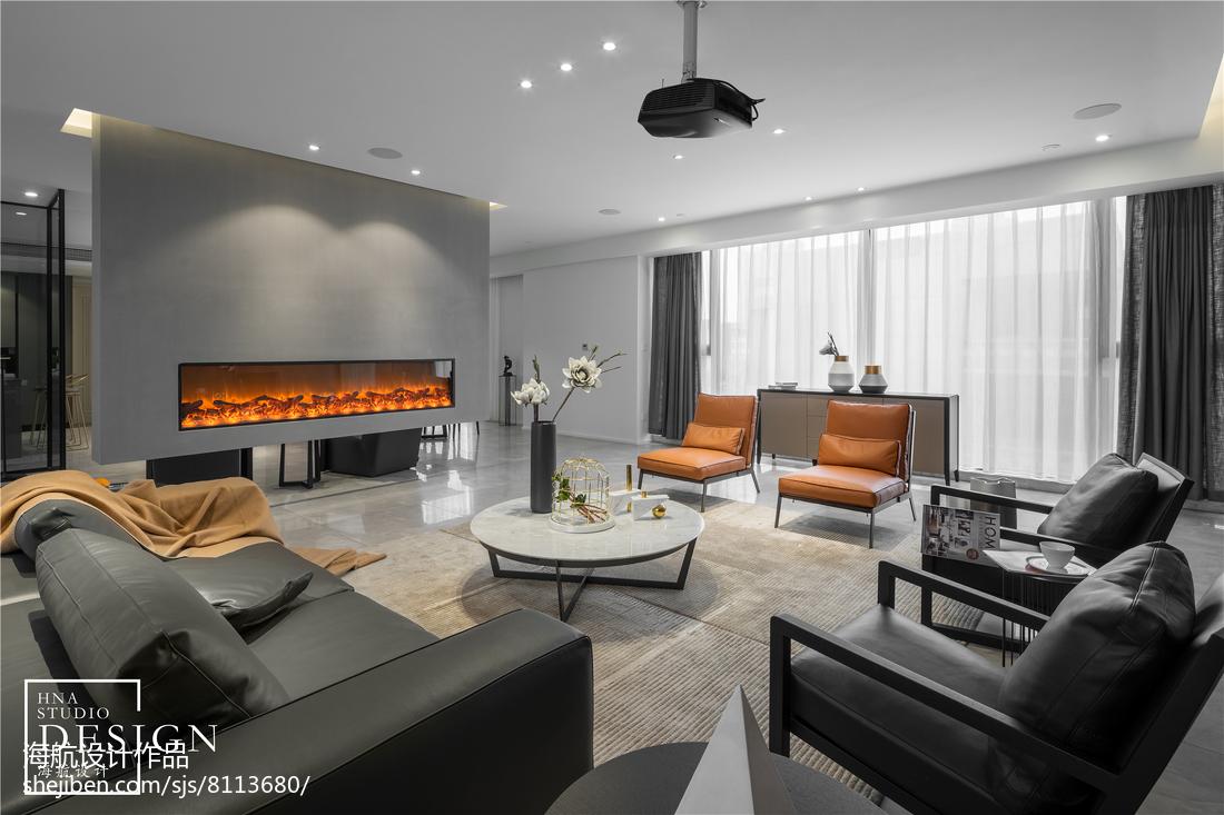 现代两居客厅壁炉设计图客厅现代简约客厅设计图片赏析