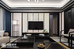240平中式背景墙设计图三居中式现代家装装修案例效果图