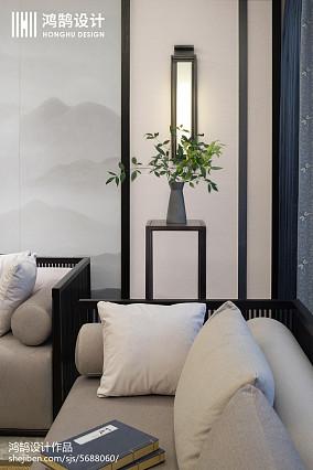 2018精选面积109平中式三居客厅实景图三居中式现代家装装修案例效果图