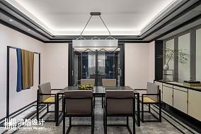 精美中式三居餐厅装修实景图三居中式现代家装装修案例效果图