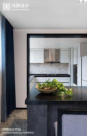 热门三居厨房中式设计效果图三居中式现代家装装修案例效果图