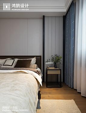 精美94平米三居卧室中式装修欣赏图片三居中式现代家装装修案例效果图
