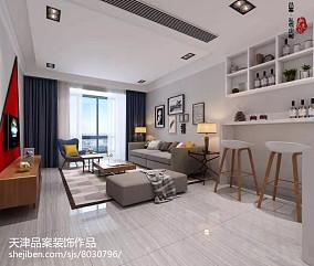 精选82平米二居客厅简约装修设计效果图片