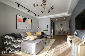简单现代二居客厅吊灯设计图