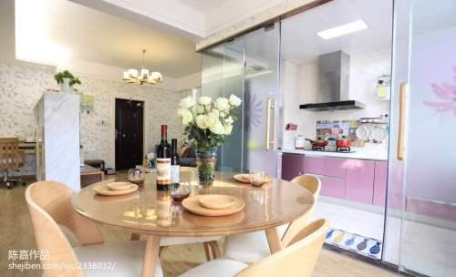 2018精选二居餐厅宜家装修欣赏图厨房瓷砖81-100m²二居现代简约家装装修案例效果图