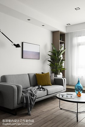 2018面积100平现代三居客厅装修欣赏图片