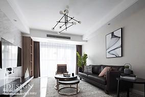 2018面积142平现代四居客厅装修图