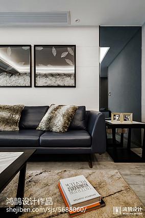 热门面积86平现代二居客厅装修实景图