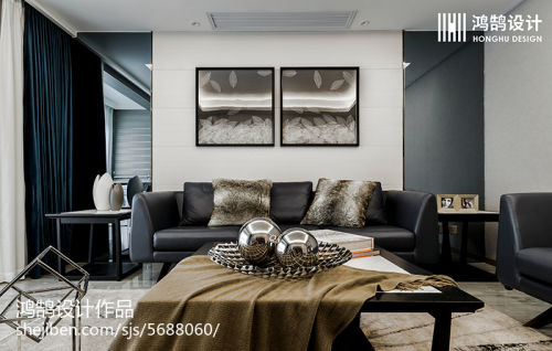 2018精选大小83平现代二居客厅装饰图片欣赏客厅沙发3图