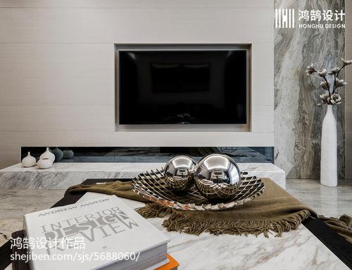 热门大小72平现代二居客厅装饰图客厅电视背景墙2图