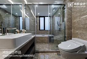 精选面积75平现代二居卫生间装修效果图片欣赏