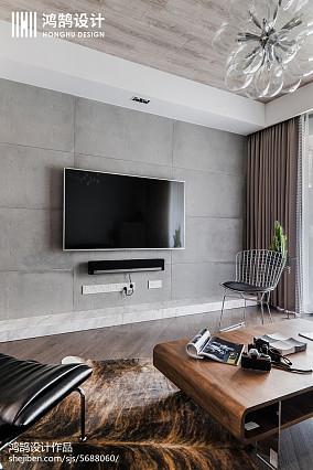 150平工业风背景墙设计图三居现代简约家装装修案例效果图