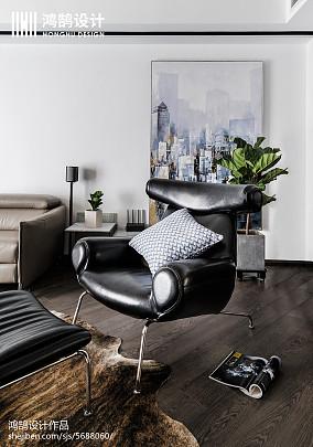2018精选100平客厅三居现代装修设计效果图三居现代简约家装装修案例效果图