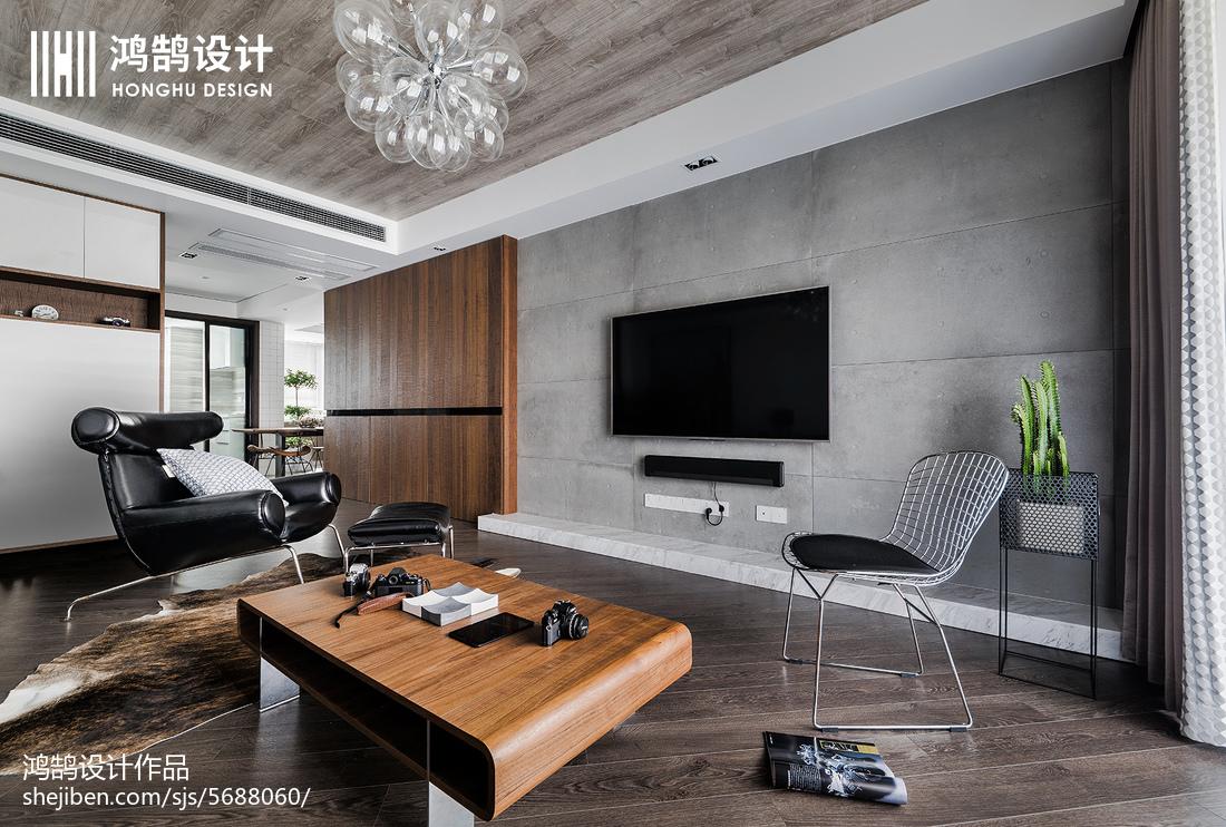 质朴150平现代三居装潢图客厅