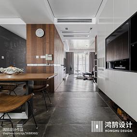精选面积105平现代三居餐厅装修效果图三居现代简约家装装修案例效果图