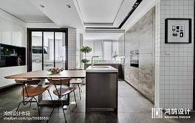 面积102平现代三居餐厅装饰图片三居现代简约家装装修案例效果图