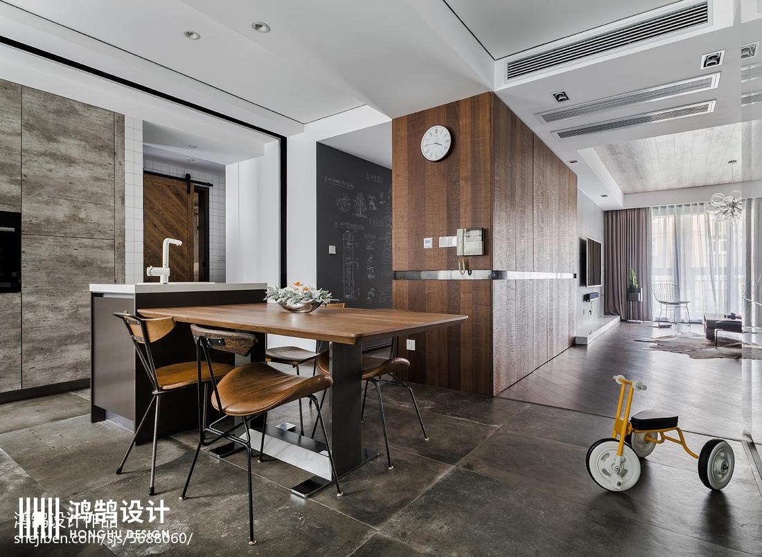 2018精选大小95平现代三居餐厅装修效果图片欣赏功能区