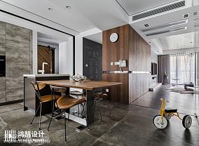 2018精选大小95平现代三居餐厅装修效果图片欣赏三居现代简约家装装修案例效果图