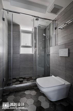 典雅117平现代三居卫生间图片大全三居现代简约家装装修案例效果图