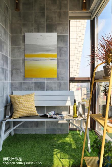 温馨87平美式二居阳台装修图片阳台