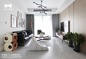 精选面积100平简约三居客厅装饰图片