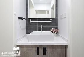 精选面积91平简约三居卫生间装修效果图片欣赏