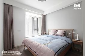 2018精选面积96平简约三居卧室实景图片