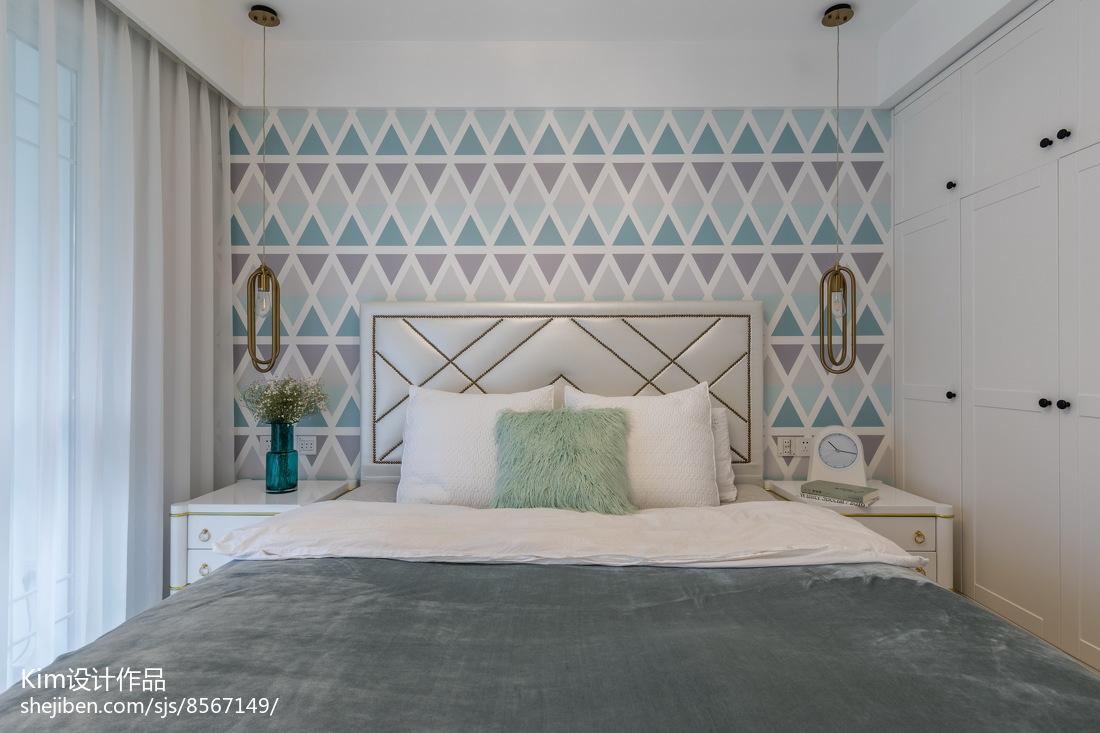 温馨125平现代三居卧室装修图卧室现代简约卧室设计图片赏析