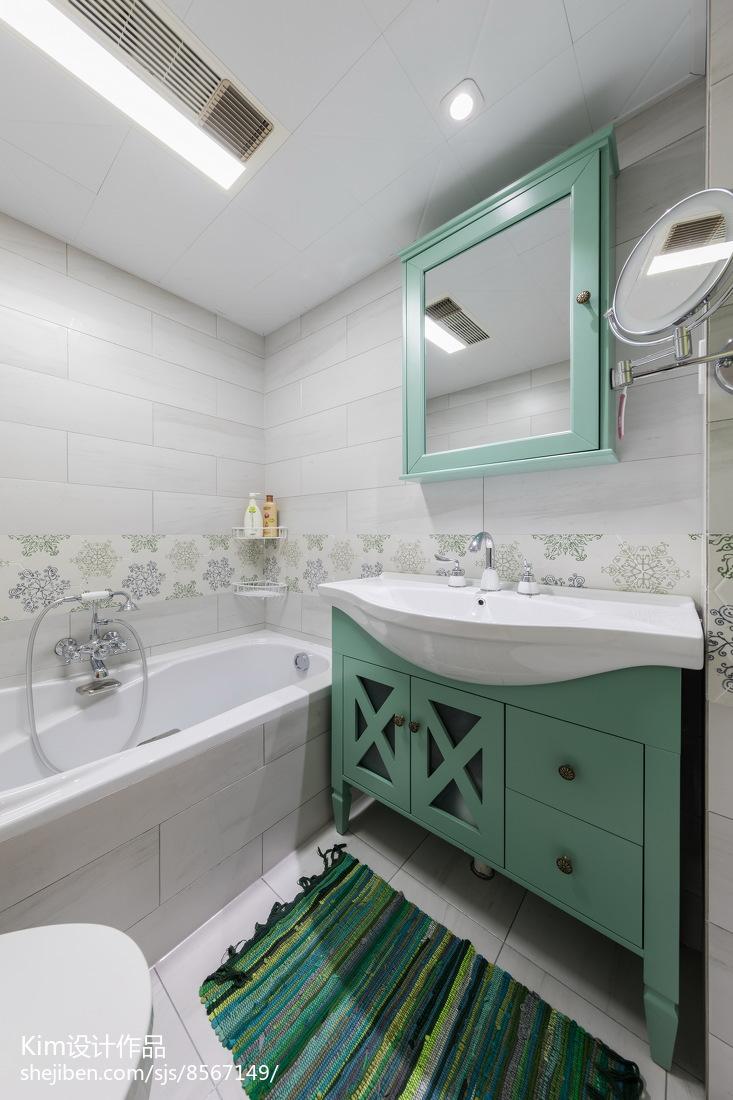 温馨83平现代三居设计图卫生间现代简约卫生间设计图片赏析