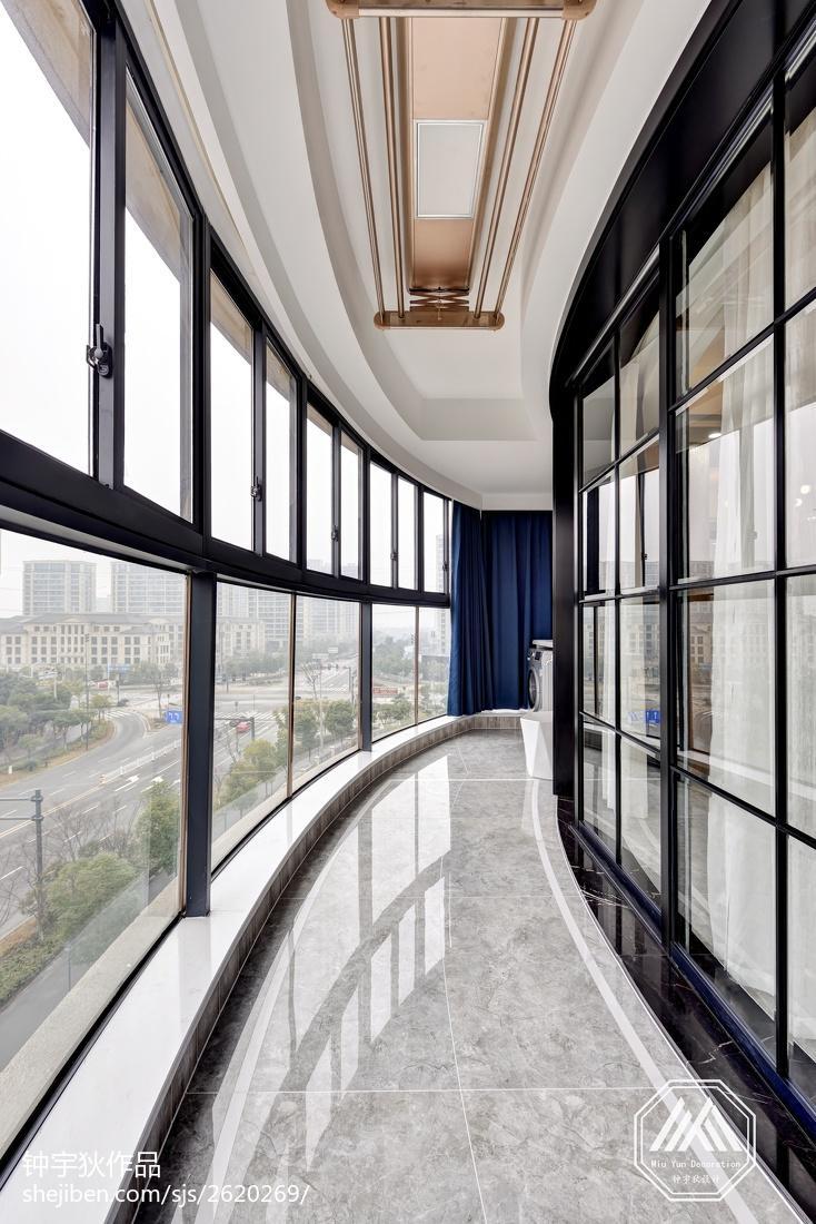 热门面积94平混搭三居阳台装修效果图片欣赏阳台潮流混搭阳台设计图片赏析