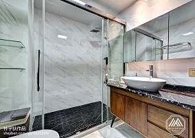 精美100平米三居卫生间混搭装饰图片欣赏