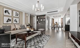 精选93平米三居客厅美式欣赏图片