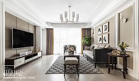 精美面积95平美式三居客厅装修实景图片欣赏