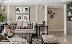 精选面积98平美式三居客厅装修效果图