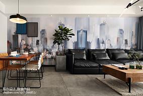 2018140平米现代复式客厅装修欣赏图片